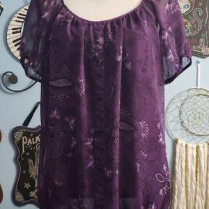 Apt 9 Purple Top sz XL, Thrifted